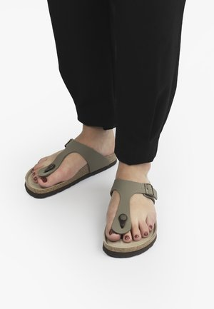 T-bar sandals - braun