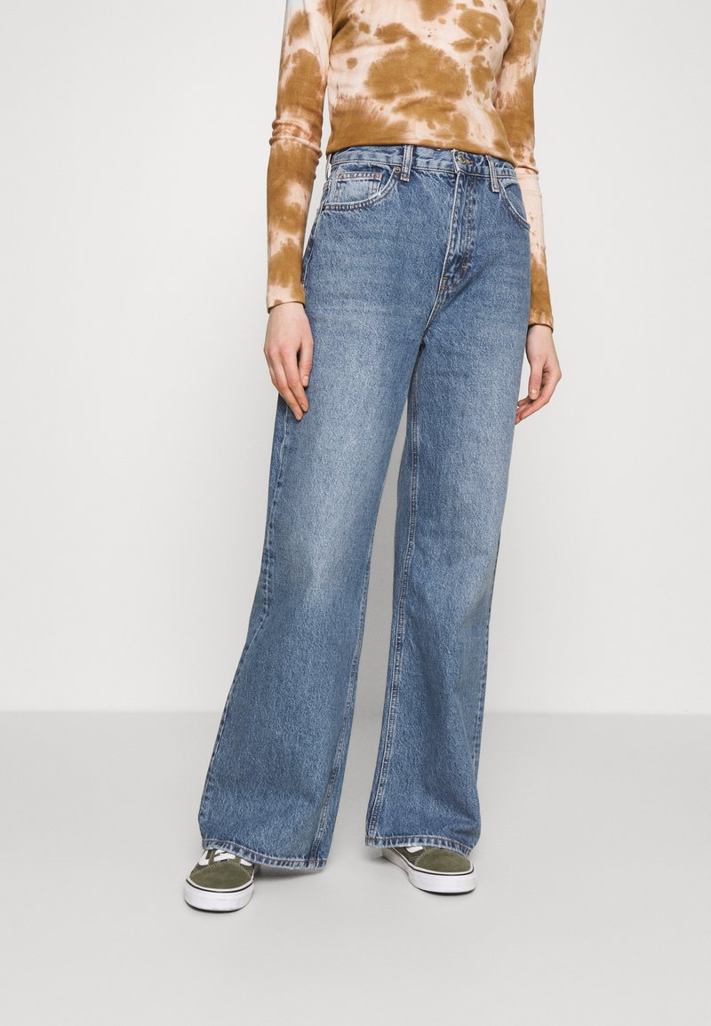 Topshop - Jeansy Relaxed Fit - blue denim
