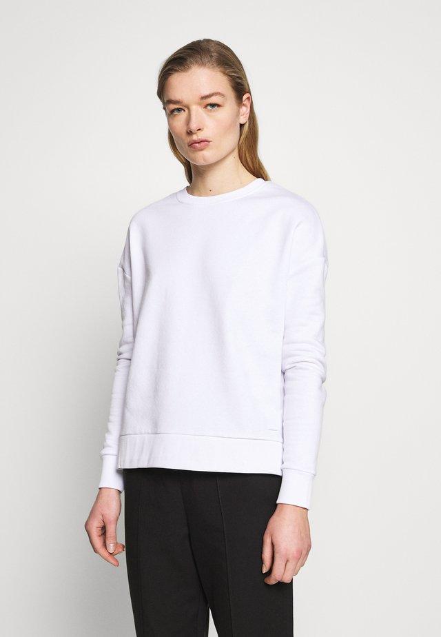 BASIC CREW NECK SWEATSHIRT - Felpa - white