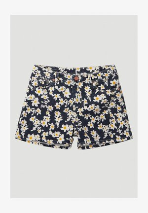 Denim shorts - blue with yellow