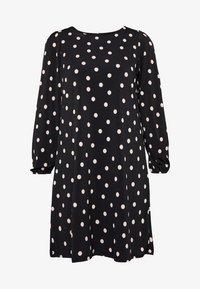 SPOT SWING DRESS - Jersey dress - black
