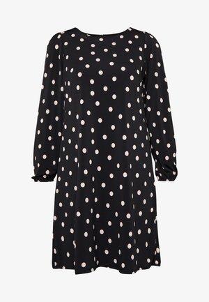 SPOT SWING DRESS - Jerseykjoler - black