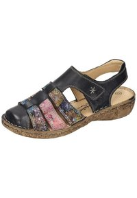 Comfortabel - Wedge sandals - schwarz/bunt - 1