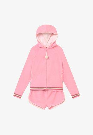 GIRLS LONG SLEEVE TOWELLING SET - Bluza rozpinana - pink