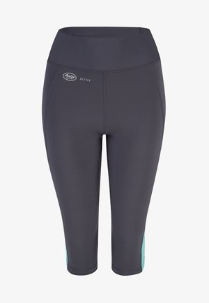CAPRI  FITNESS - 3/4 sports trousers - pool blue anthrazit