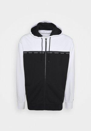 LOGO STRIPE ZIP HOODIE - Zip-up sweatshirt - colorblock bright white/black