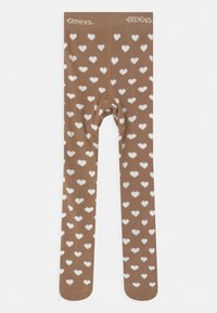 Ewers - HEARTS 2 PACK - Tights - light brown/white - 2