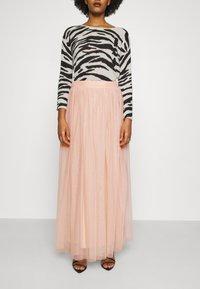 Lace & Beads - MARIKO SKIRT - Áčková sukně - nude - 0