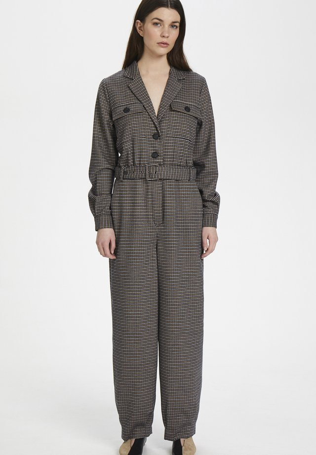 Tuta jumpsuit - brown check
