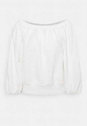 SLFBUBBLE OFF SHOULDER - Felpa - snow white