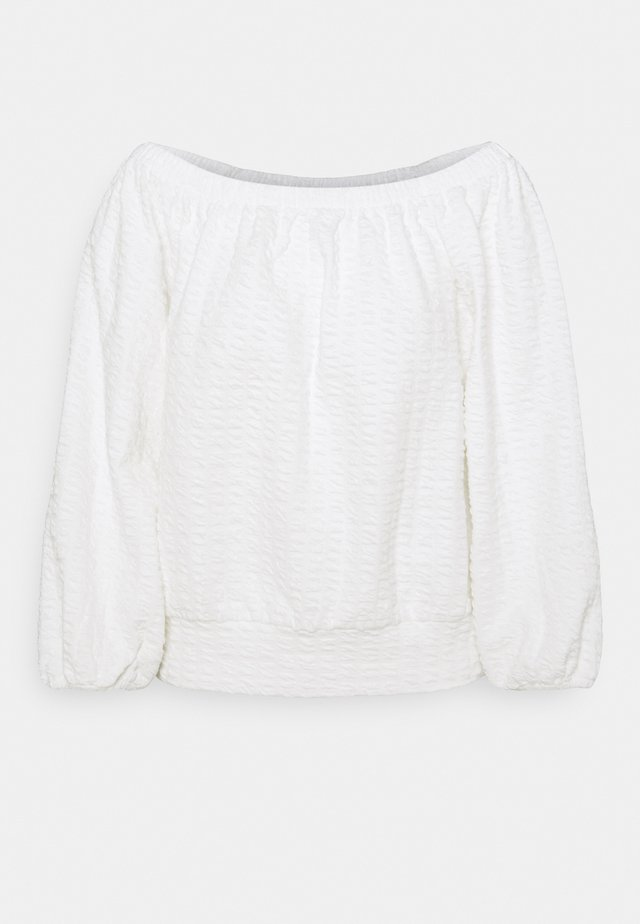 SLFBUBBLE OFF SHOULDER - Sweatshirt - snow white