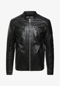Solid - TOPPER - Veste en cuir - black - 4