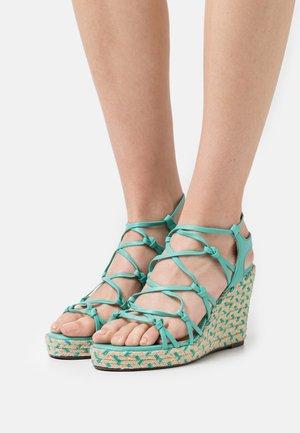 NUA - Platform sandals - lagon
