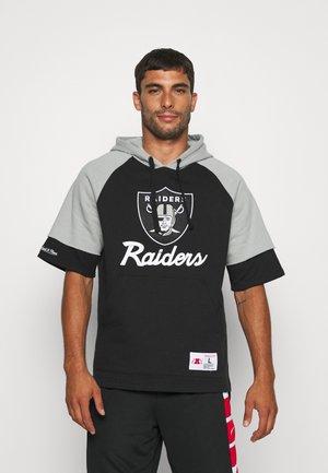 NFL OAKLAND RAIDERS HOODY - Vereinsmannschaften - black