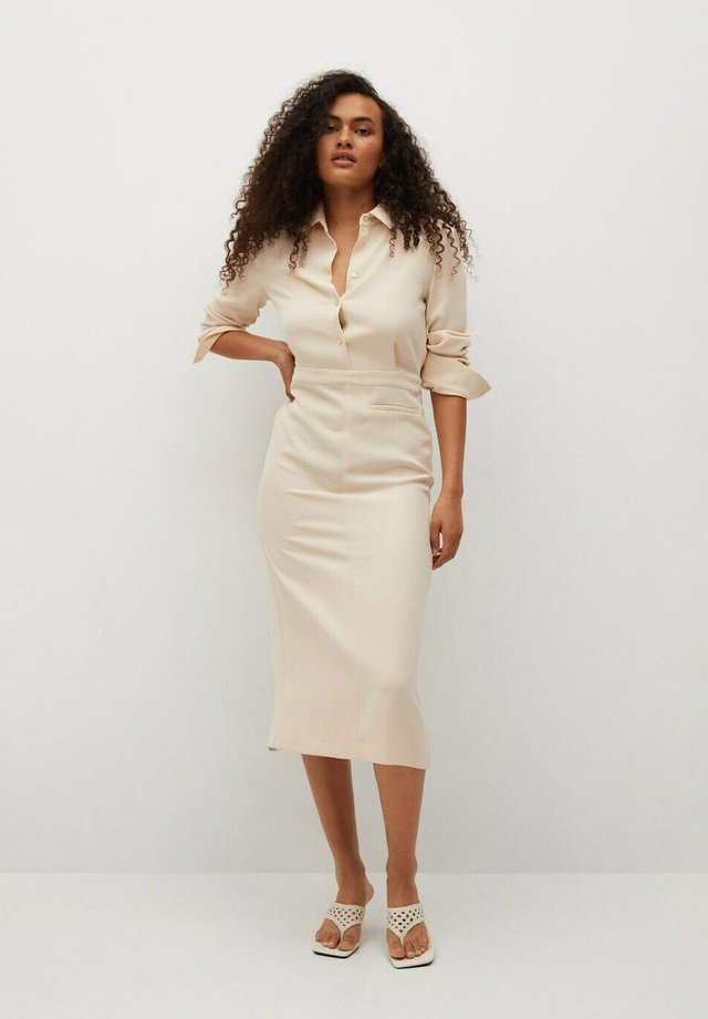 Shirt dress - blanco roto