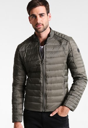 LEMAN DOUDOUNE REVERSIBLE - Down jacket - khaki black