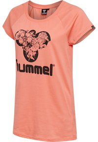 Hummel - Print T-shirt - peach - 2