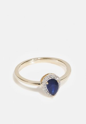 NATURAL DIAMOND RING CARAT DROP HALO DIAMOND RINGS KT DIAMOND JEWELLERY GIFTS FOR WOMENS - Ring - gold