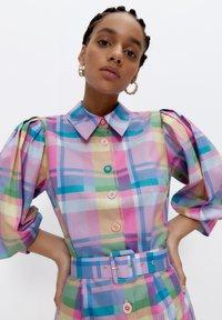 Uterqüe - Shirt dress - pink - 4