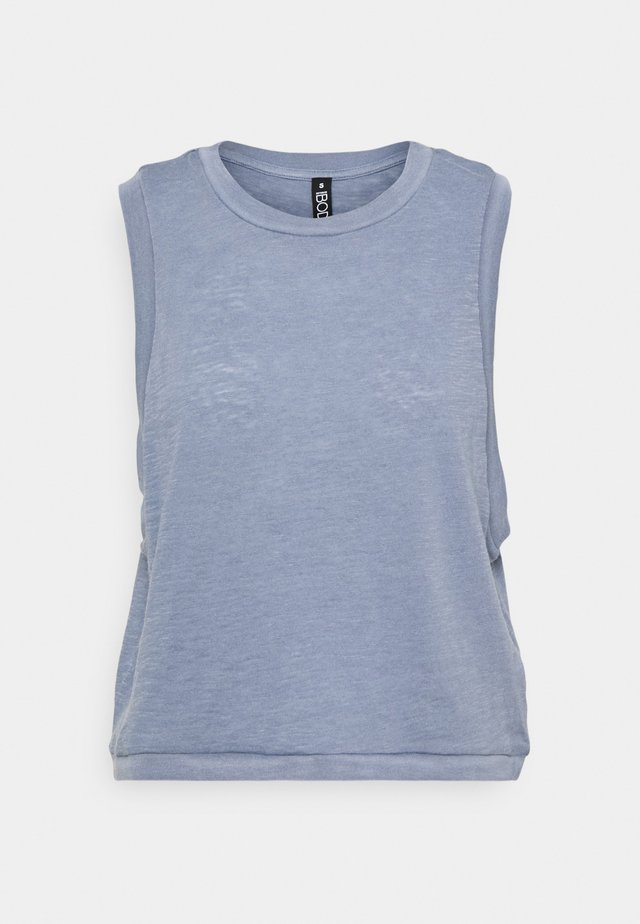 ALL THINGS FABULOUS CROPPED MUSCLE TANK - Top - blue jay wash