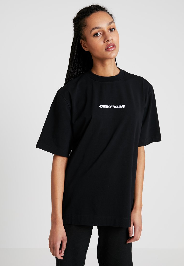 House of Holland - BLACK 'HOH' EMBROIDERED  - Print T-shirt - black