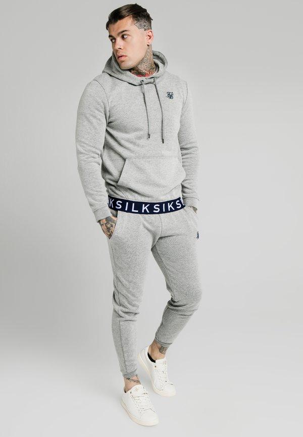 SIKSILK ELASTIC JACQUARD OVERHEAD HOODIE - Bluza - grey/szary Odzież Męska EXBZ