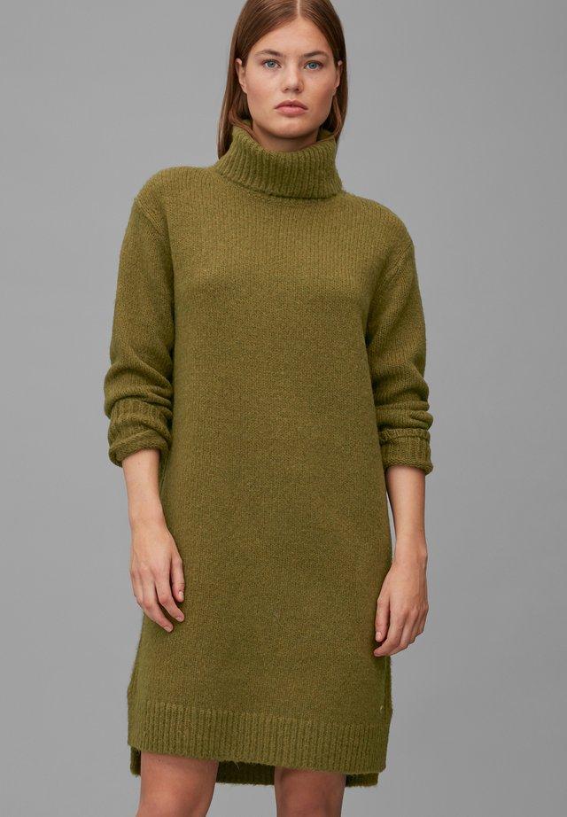 Jumper dress - olive green melange