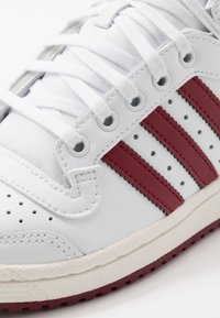 adidas Originals - TOP TEN - Zapatillas altas - footwear white/collegiate burgundy/chalk white - 5