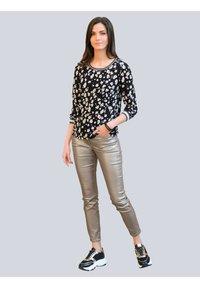 Alba Moda - Long sleeved top - schwarz,off-white,taupe - 1