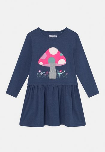 Jersey dress - indigo melange