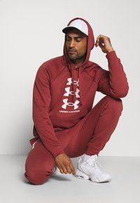 Under Armour - RIVAL MULTILOGO - Hoodie - cinna red/onyx white - 1