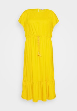 DOBBY DRESS - Day dress - deep golden yellow