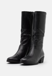 Steven New York - SOLANGE - Vysoká obuv - black - 2