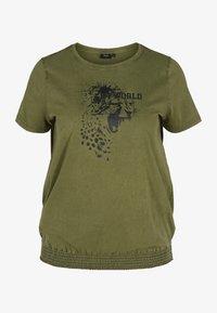 Zizzi - Print T-shirt - ivy green - 2