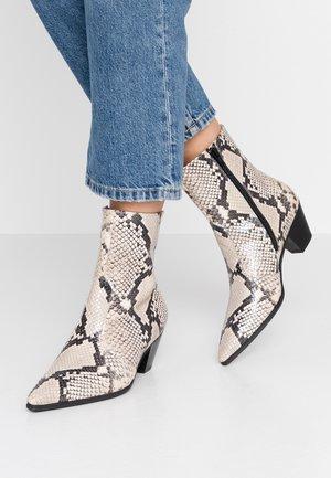 Cowboy/biker ankle boot - natur
