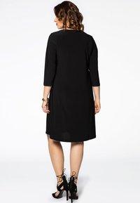 Yoek - 3/4 SLEEVE - Day dress - black - 2
