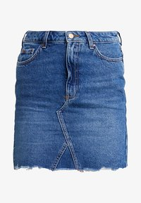 New Look - MOM SKIRT SKITTLES - Spódnica jeansowa - mid blue - 4
