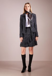 KARL LAGERFELD - SPARKLE BOUCLE - A-line skirt - mood indigo - 1