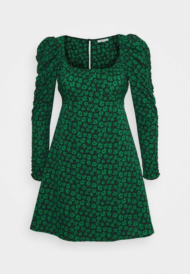 RUCH SLEEVES DRESS - Vapaa-ajan mekko - green