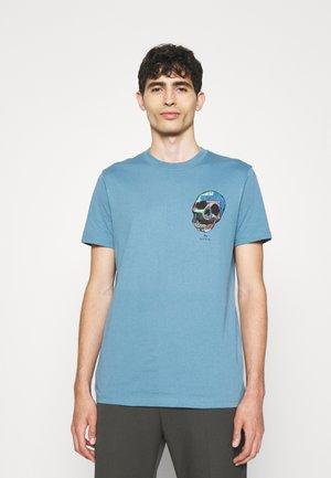 SLIM FIT TSHIRT SKULL - T-Shirt print - teal