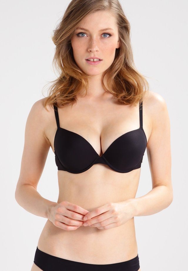 MICRO FINE - Push-up bra - schwarz