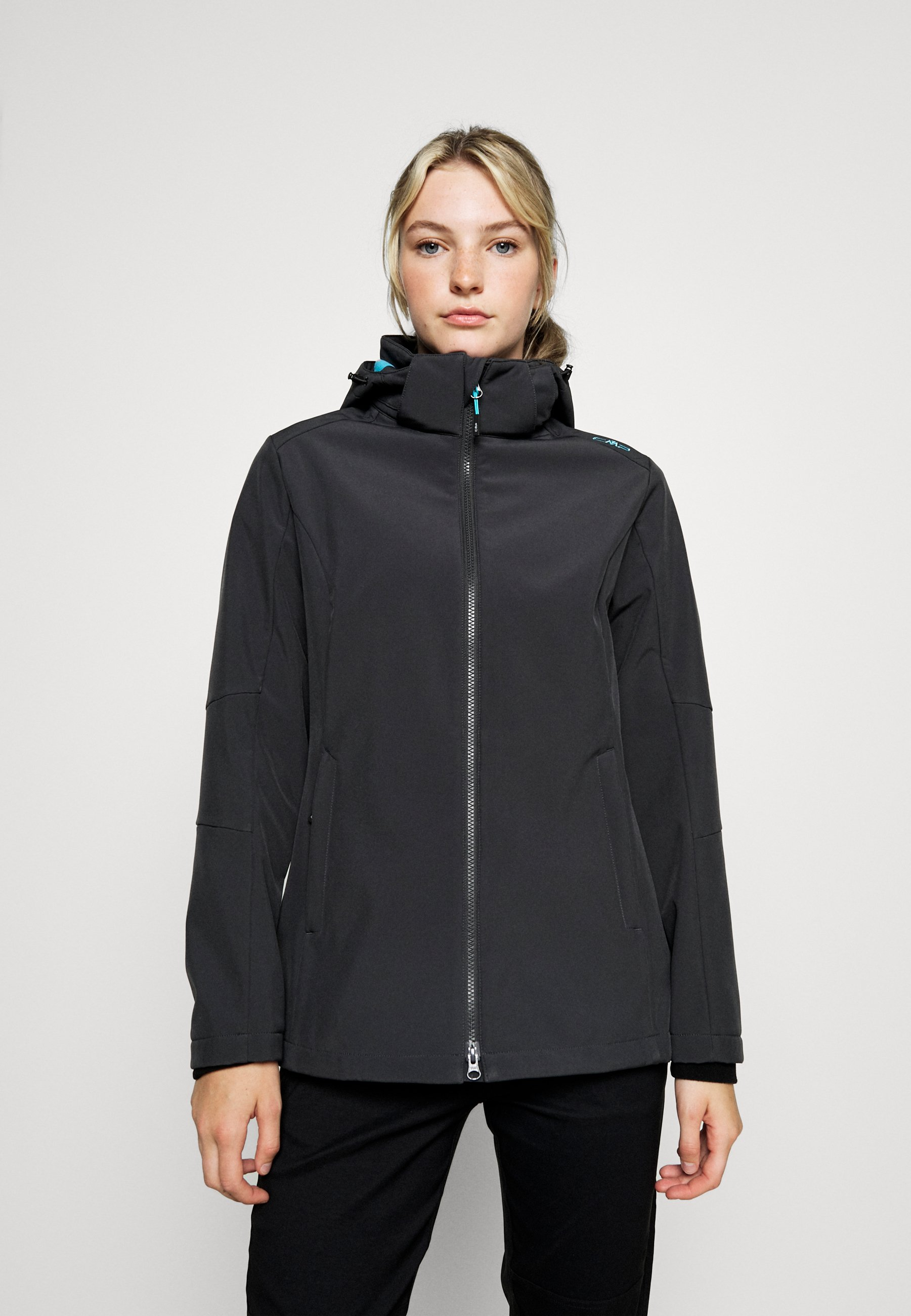 Women WOMAN JACKET ZIP HOOD - Soft shell jacket