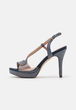 Sandalias de tacón - midnight blue