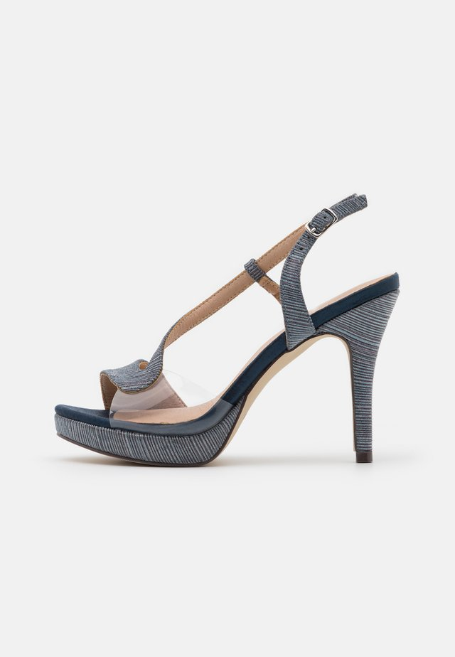 High heeled sandals - midnight blue