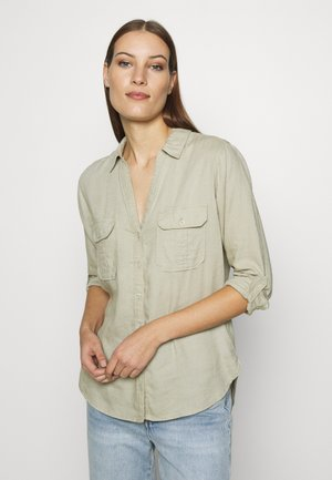 ASIA UTILITY - Button-down blouse - light olive