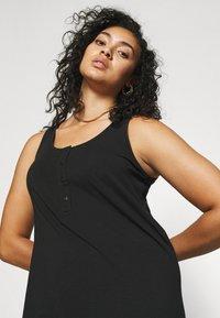 Mamalicious Curve - MLSIA TANK MAXI DRESS - Maxi dress - black - 3