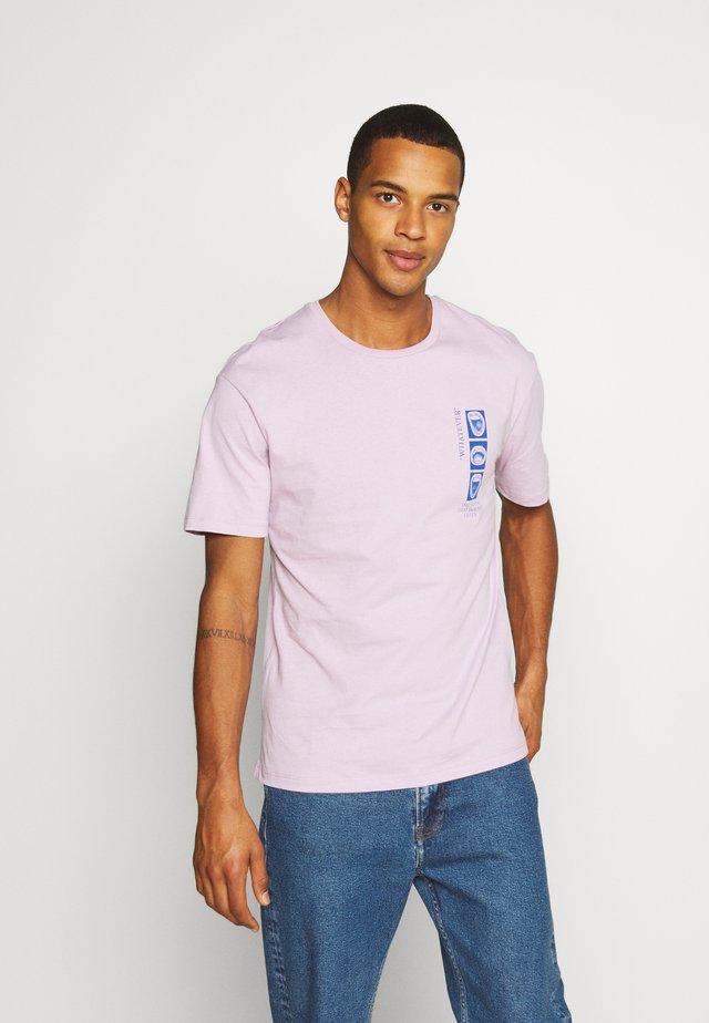 JORLICK TEE CREW NECK  - T-shirt print - lavender frost