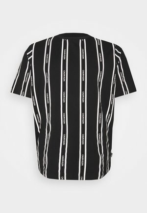 VERTICAL LOGO STRIPE - Print T-shirt - black