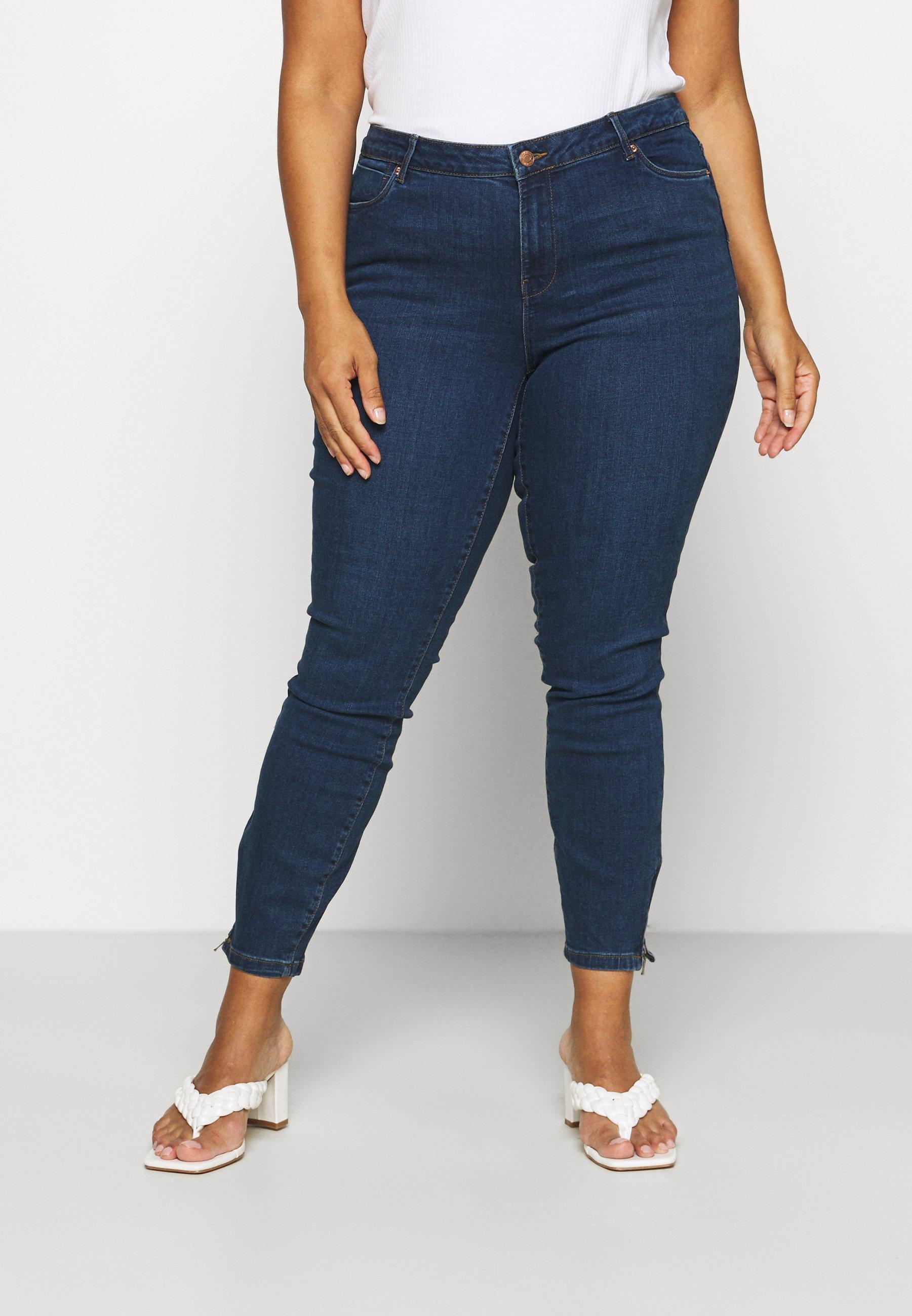 Damen VMTILDE ANK ZIP - Jeans Skinny Fit - dark blue