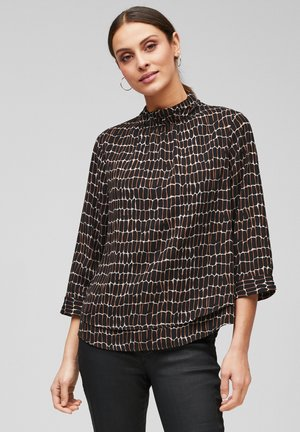 Blouse - mottled anthracite